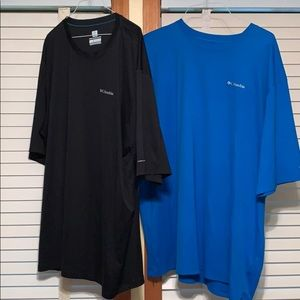 Men's Columbia Omni freeze Shirts 3XT bundle of 2